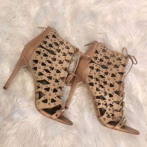 907807bcce5e Sam Edelman Shoes - Sam Edelman Nude Spiked Cage Heels